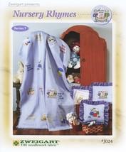Zweigart's Nursery Rhymes Leaflet Series 1 Cross Stitch Afghans Pillows - $7.59