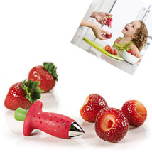 Tomato Strawberry Stem Huller Remover Fruit Leaves Removal Kitchen Gadge... - ₨249.29 INR