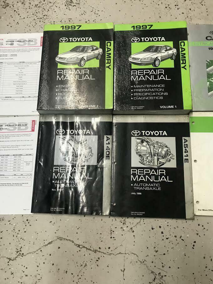 1997 TOYOTA CAMRY Service Repair Shop Workshop Manual Set OEM W EWD + Transaxle