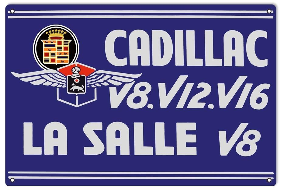 Primary image for Cadillac V8 V12 V16 La Salle Sign