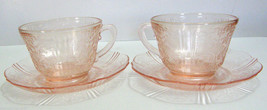 American Sweetheart Cup & Saucer sets (2) - MacBeth-Evans - Pink - $25.00