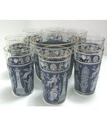 Jeannette Corinthian Blue Beverage Set (10 pieces) - $80.00