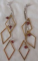 Dangling Rhombus earrings  - $36.00