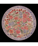 Floral Decorative Plate Wall Art Chinese Influence 10 7/16 inch Made in ... - $49.00