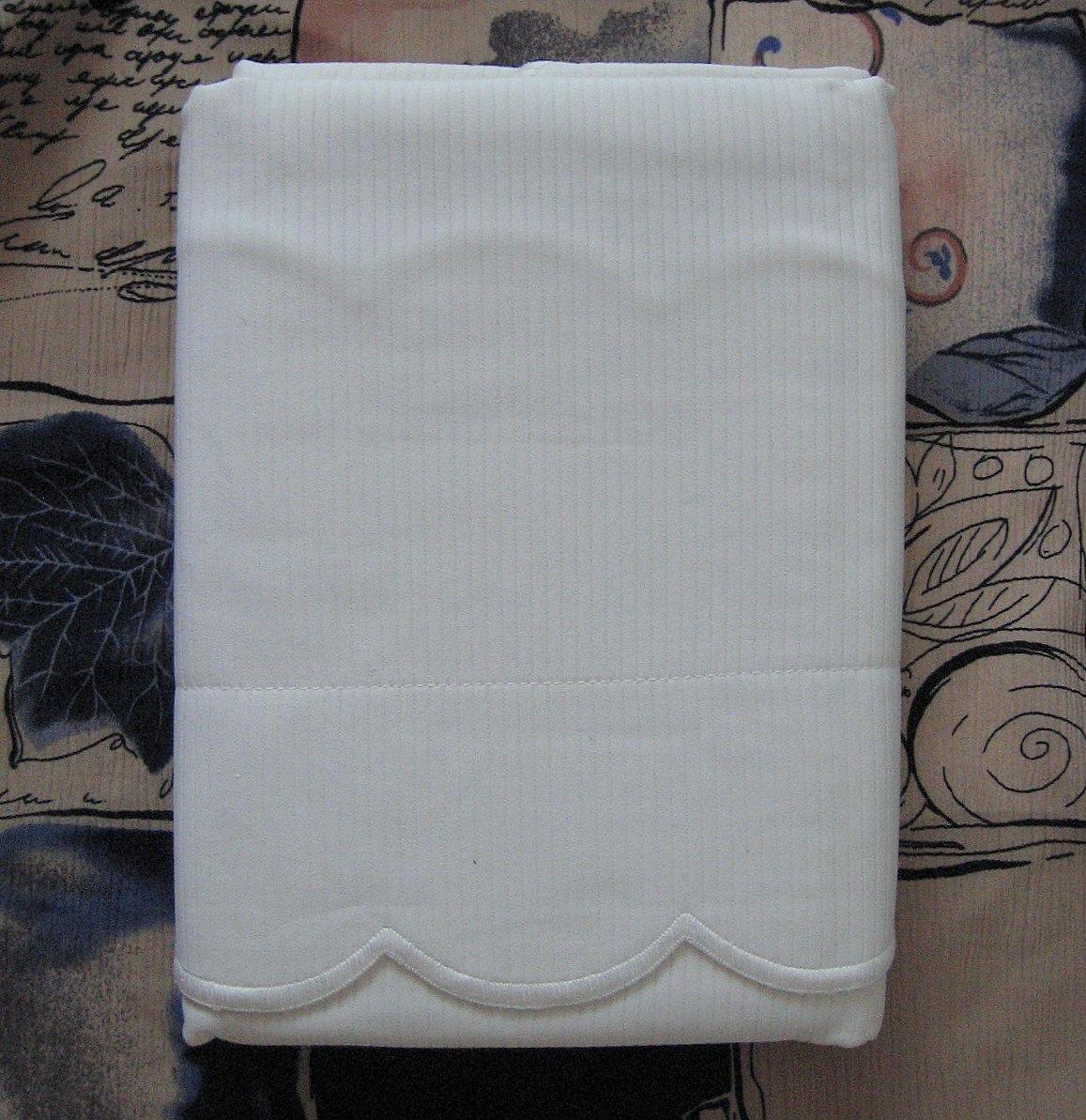 Ralph Lauren Jacquard Pillow Sham 100% White Cotton 50x66 CM Portugal #16387
