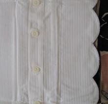Ralph Lauren Jacquard Pillow Sham 100% White Cotton 50x66 CM Portugal #1... - $40.09