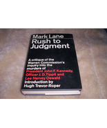 Kennedy Book-Mark Lanes A Rush To Judgement - $75.00