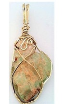 Amazonite Gold Wire Wrap Pendant 71 - $44.00