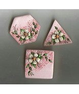 Ceramic Button Covers  Floral Theme - $9.00