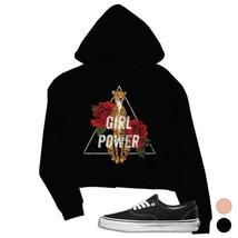 365 Printing Girl Power Leopard Crop Hoodie Vintage Gift - $27.99
