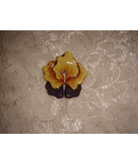 Ceramic Pin  Pansy - $6.00