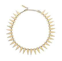 Rachel Zoe 14K Gold Plated Kate Collar CZ Necklace SP16JN05 NEW - $73.83