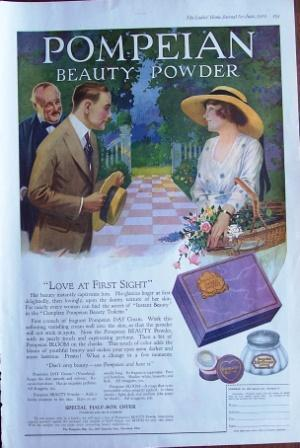 1920 Pompeian Beauty Powder Vintage Ad from Ladies Home Journal