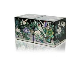 Perlmutt-Mutter der Perle Pfau Holz Schmuckstück Schmuck jewel Box #1836 - $178.67