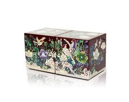 Perlmutt-Mutter der Perle Pfau Holz Schmuckstück Schmuck jewel Box #1835 - $178.67