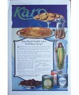 1919 Karo Syrup Griddle Cakes Vintage Large Page Ad  - $9.95