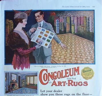 1919 Congoleum Art Rugs Vintage Ad