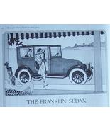 1919 Franklin Sedan Cars Vintage Ad  - $9.95