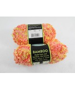 Sensations Bamboo Yarn 2 Skeins Coral/Yellow Color #43815 Lot #490 NEW 1... - $21.56