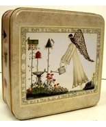 Garden Angel decorative Collectible sq Tin box - New - $8.00