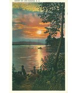 Sunset on Lake Sunapee, NH, 1920s unused Postcard - $5.99