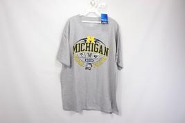 New Champion Mens XL 2018 Final Four Michigan Wolverines Basketball Shirt Gray - $21.73