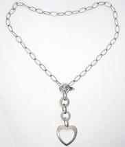 Collar Plata 925 ,Cadena Ovalados, Círculos y Corazón, Colgantes, Satinato image 2