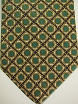 NEW Brooks Brothers Blue With Gold and Green Circles Silk Tie - $37.49