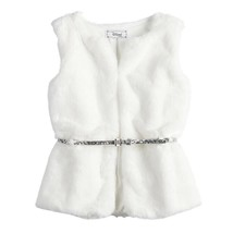 Disney D-Signed The Nutcracker White Faux-Fur Vest - GIRLS XS 6 - $44.95
