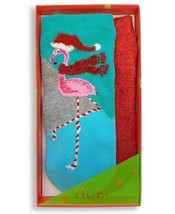 HUE 2-pack Footsie Socks Gift Box Flamingo - $9.79