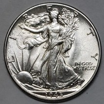 1945 Walking Liberty Half Dollar 90% Silver Coin Lot# E 162