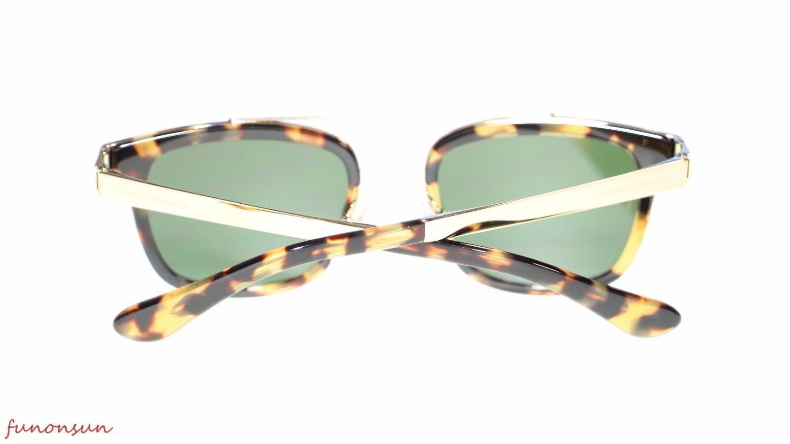 Dolce Gabbana Men's Sunglasses DG2175 296971 Yellow Havana Green Lens 51mm