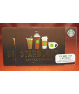 Lot of 3 Starbucks COFFEE COMPANY Brown Cups 2017 Gift Cards New with Tags - $12.68