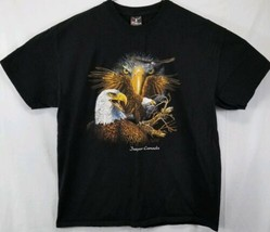 Hanes Beefy T Men's Size XL T-Shirt Short Sleeve Jasper Canada W/ Eagle Graphic - $14.89