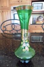 Vintage Original Arnart Creation Bud vase mini green Japan hand painted ... - $6.90