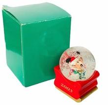 Mickey Mouse snowglobe figurine Disney NOB box Christmas holiday 2003 JC... - $24.70