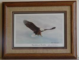 """Framed, Signed """"Guardian of Freedom"""" Eagle Print By Richard Van Order  - $12.99"""