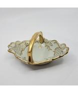 Vintage Carlin Comforts Porcelain Vanity Ring Basket Bowl With Handle. S... - $20.00