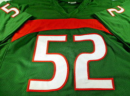 RAY LEWIS / NFL HALL OF FAME / AUTOGRAPHED MIAMI HURRICANES CUSTOM JERSEY / COA image 2