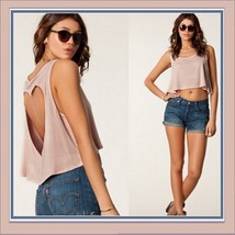 Vintage Torn Heart Backless Cotton Short Sleeveless T-Shirt in Six Choice Colors image 5
