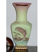 Fenton Burmese Trout Vase - $200.00