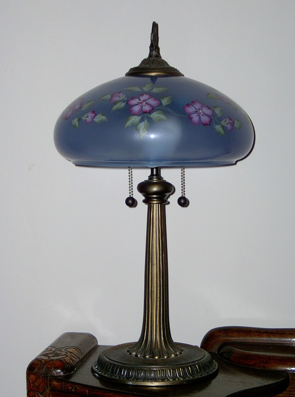 Fenton Mulberry Lamp Handpainted Limited to 500