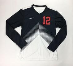 Nike DQT Long Sleeve Soccer Jersey Top Women's Medium White Black 599539... - $36.03