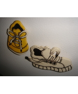 2 ceramic magnets   old sneaker  - $6.00