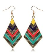 Boho Tribal Inspired Exaggeration Dangle Drop E... - $17.00