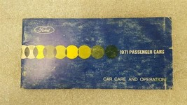 1971 Ford Passenger Car Owners Manual - Car Care And Operation 15800 - $16.82