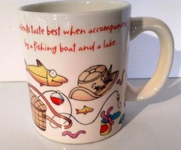 Fisherman Fishing Coffee Mug Cup Sportsman Camping Hallmark Humorous Cute Funny  - $4.95