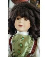 "Porcelain Doll NIGC -20 Green Victorian Dress 19"" - $23.44"