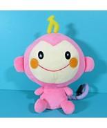 "Sanrio Nakajima Chi Chai Monchan Pink Cream Monkey 9"" Plush Stuffed Anim... - $39.95"