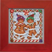 Ginger Friends Winter Mill Hill 2014 Button and Beads kit Mill Hill  - $11.70